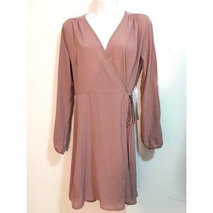 Rose Gold Sheer Dress Monteau Sz Large